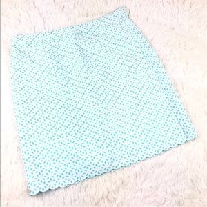 Brooks Brothers Pencil Skirt Turquoise Eyelet